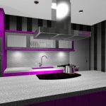 cocina moderna rosa-negra